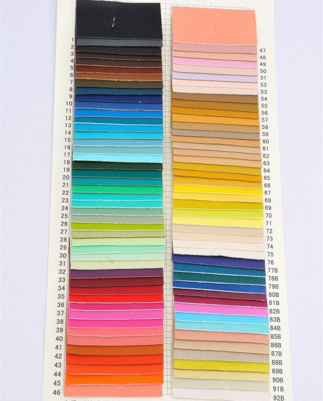 1 3mm Thick Pu Leather Multi Colored Sheep Skin Grain