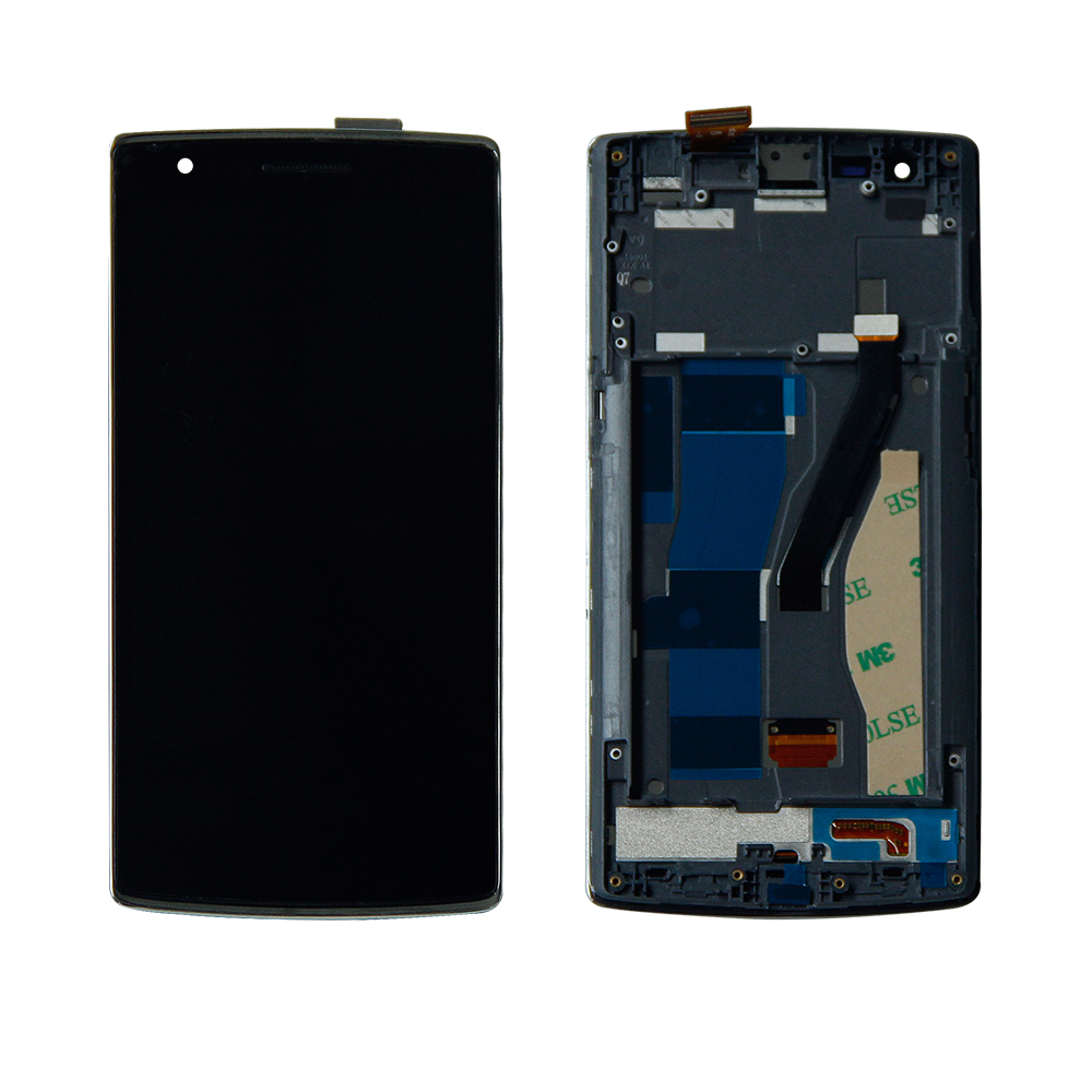 Free Shipping For Oneplus 1 One 1+ A0001 Touch Screen Digitizer+ Lcd Display Assembly With Frame Replacement