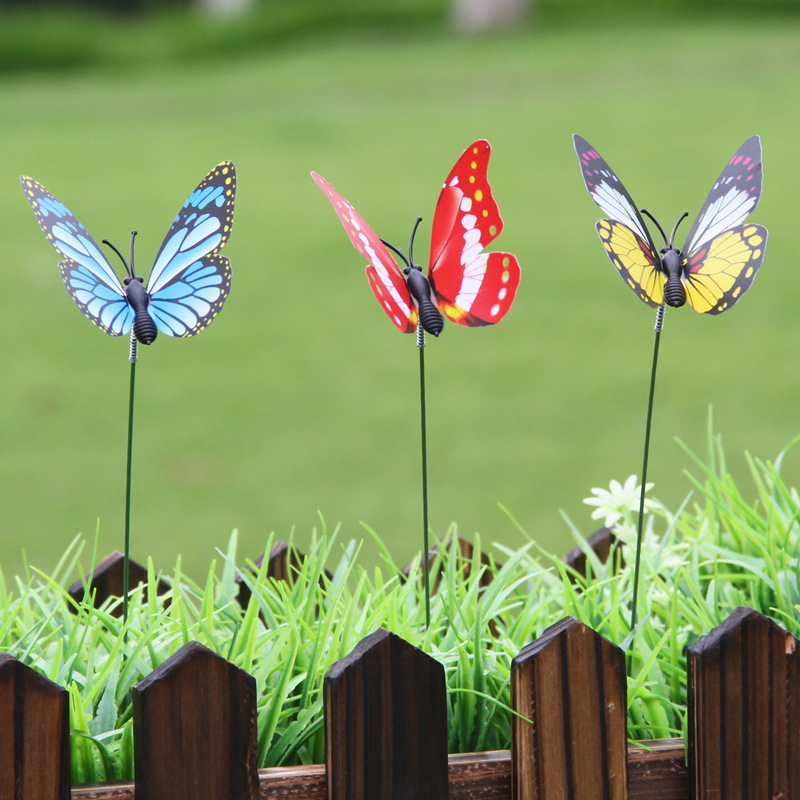 15PCS/Lot Artificial Butterfly Garden Decorations Simulation Butterfly Stakes Yard Plant Lawn Decor Fake Butterefly Random Colo 15PCS/Lot Artificial Butterfly Garden Decorations Simulation Butterfly Stakes Yard Plant Lawn Decor Fake Butterefly Random Colo