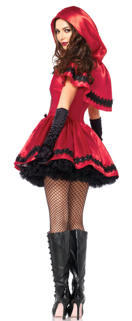 Adult Women Halloween Classic Little Red Riding Hood Costume Fantasia Carnival Party Cosplay Fancy Dress Outfit