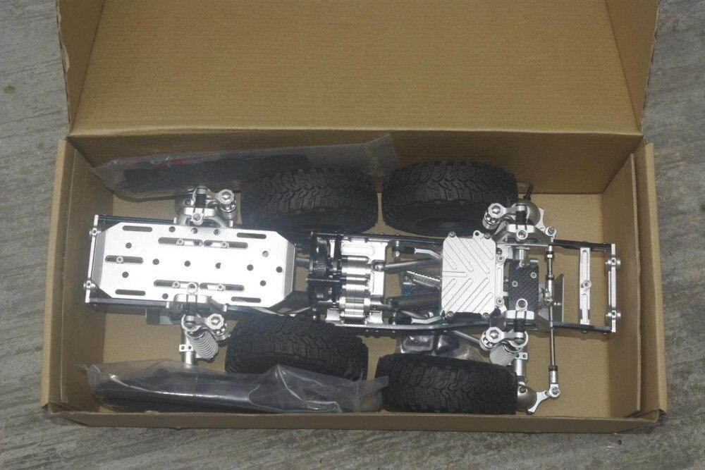 CNC aluminium 1:10 métal course RC camion chenille option pour Axial scx10 cadre expédition par DHL ou EMS