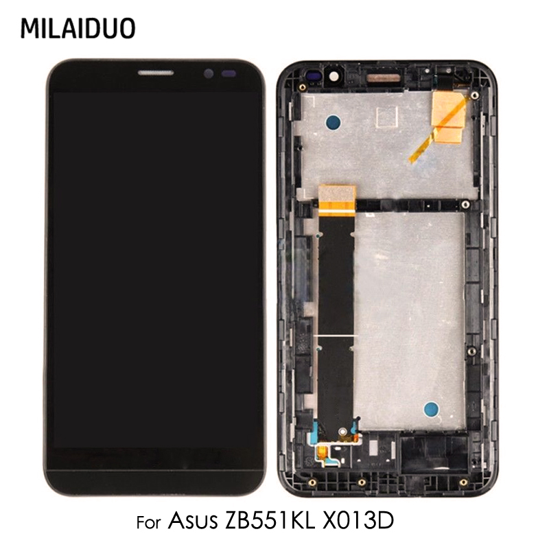 LCD Display For <font><b>Asus</b></font> ZenFone Go TV ZB551KL <font><b>X013D</b></font> X013DB X013DC Touch Screen Digitizer No/with Frame Assembly Replacement 5.5'' image