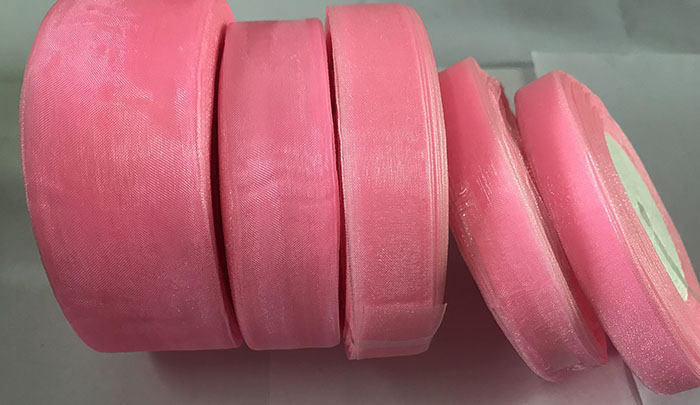 Geinne 12 мм-50 мм шириной 50 ярдов/рулонов розовая лента из органзы оптовая продажа подарочной упаковки рождественские ленты