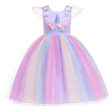 Unicorn Girls Wedding Dress Summer Princess Children Party Tutu Baby Girl Clothes