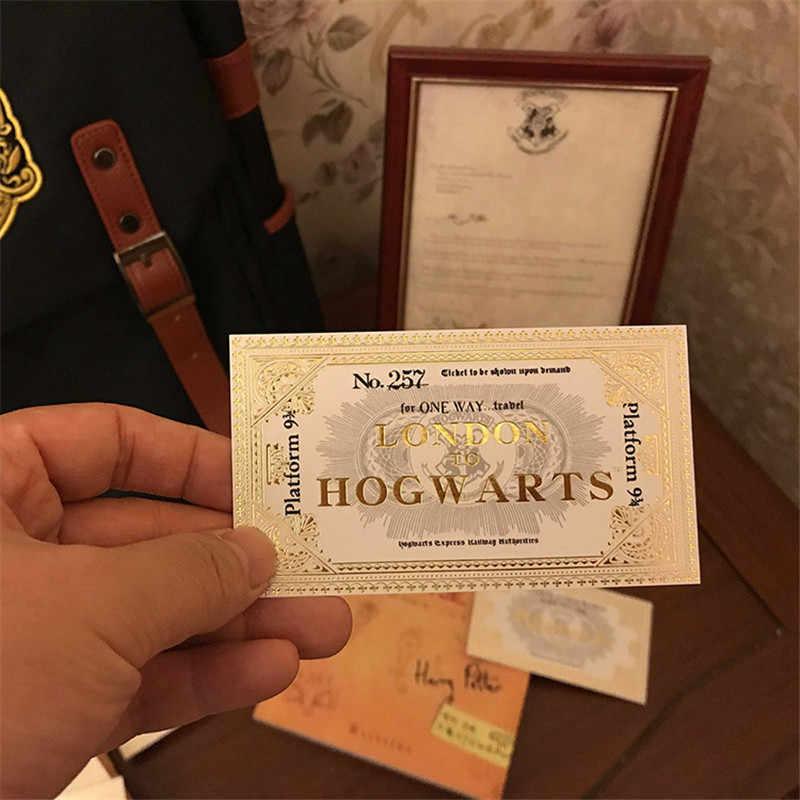 ใหม่ Marauder's แผนที่ HP Harry Wizard School ตั๋วนักเรียนคอลเลกชันของขวัญแฟน Party