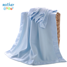 Mother Nest Soft Baby Blankets Satin Trim Double Layer Fleec