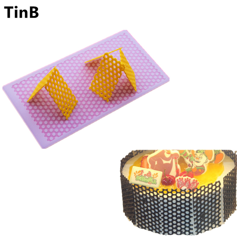 Hot DIY 3D Honeycomb Silicone Chocolate Mold Bakeware Birthday Cake Cookie Decorating Tools Chocolate Mould Stencil Muffin Pan