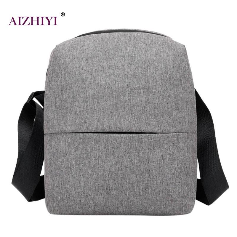 Men Nylon Waterproof Messenger Bag Travel Small Zipper Shoulder Handbag Teenage Crossbody Bag Business Casual Briefcase 2018
