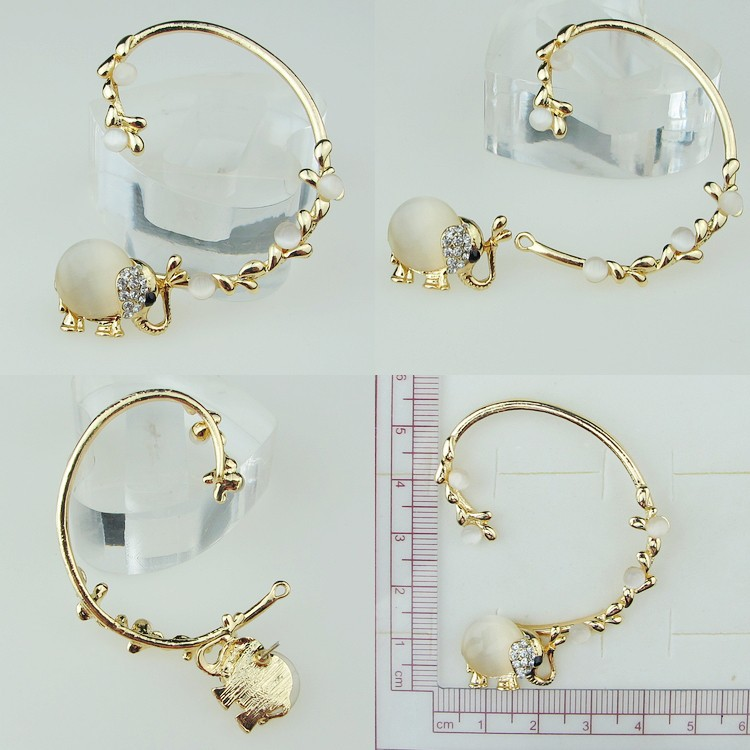 Gold Plated Insect Elephant Earrings