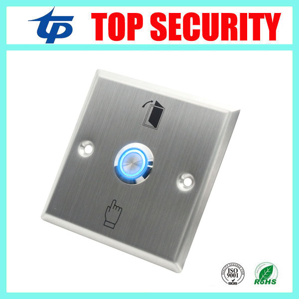 Stainless steel door exit button with LED light for night use good quality door control exit switch door release button E04L exit