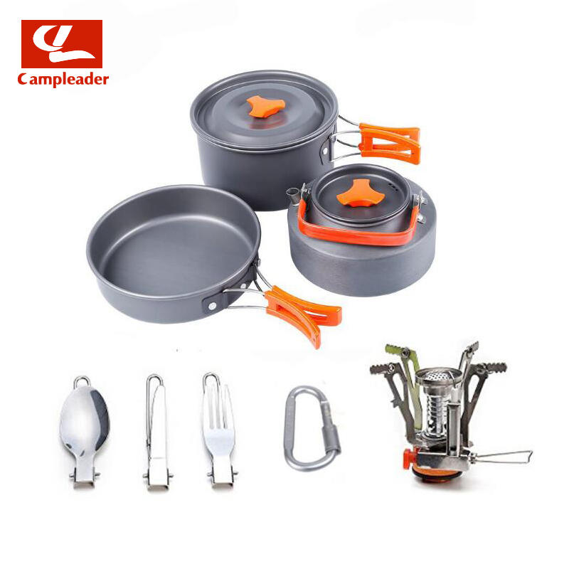 Portable Cookware Set with Teapot Grill Cookware 2-3 Outdoor Camping Tableware Outdoor Cookware Set CL314Portable Cookware Set with Teapot Grill Cookware 2-3 Outdoor Camping Tableware Outdoor Cookware Set CL314