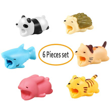6PCS/Set As Gift Cute Animal Bite Cable Protector Cartoon USB Protectors For iPhone Samsung Chompers Dropshipping