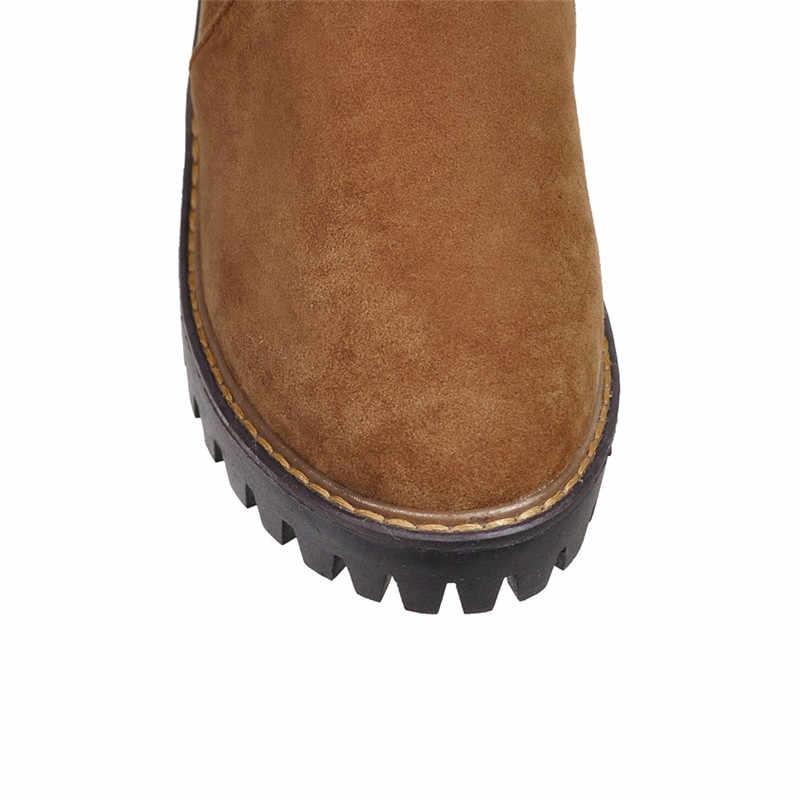 Memunia Lớn Size 34-43 Trên Đầu Gối Giày Bốt Thời Trang Nữ Giữ Ấm Ủng Giày Cao Gót Giày mùa Đông Giày Đàn