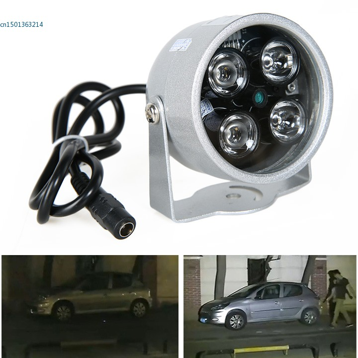 4LED Infrared Night vision IR Light illuminator lamp 50M for IP CCTV CCD Camera ...