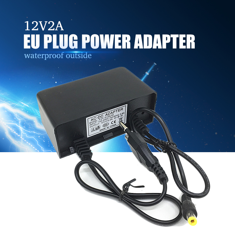 YiiSPO 12V 2A CCTV Waterproof Adapter Outdoor DC Power Supply For CCTV Security Camera & LED Illuminator DC 5.5*2.1mm
