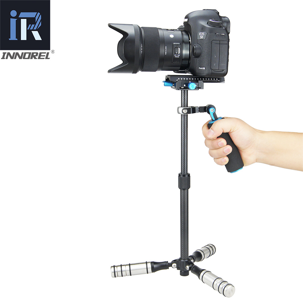 Image 4 - SP mini Handheld Stabilizer Lightweight Carbon Fiber steadicam for DSLR Video Camera DV Light Steady cam high build quality-in Photo Studio Accessories from Consumer Electronics