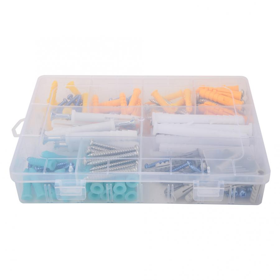 200Pcs  Stainless Steel Self-tapping Screw Expansion Tube Sleeve Assortment Set Kit + Plastic