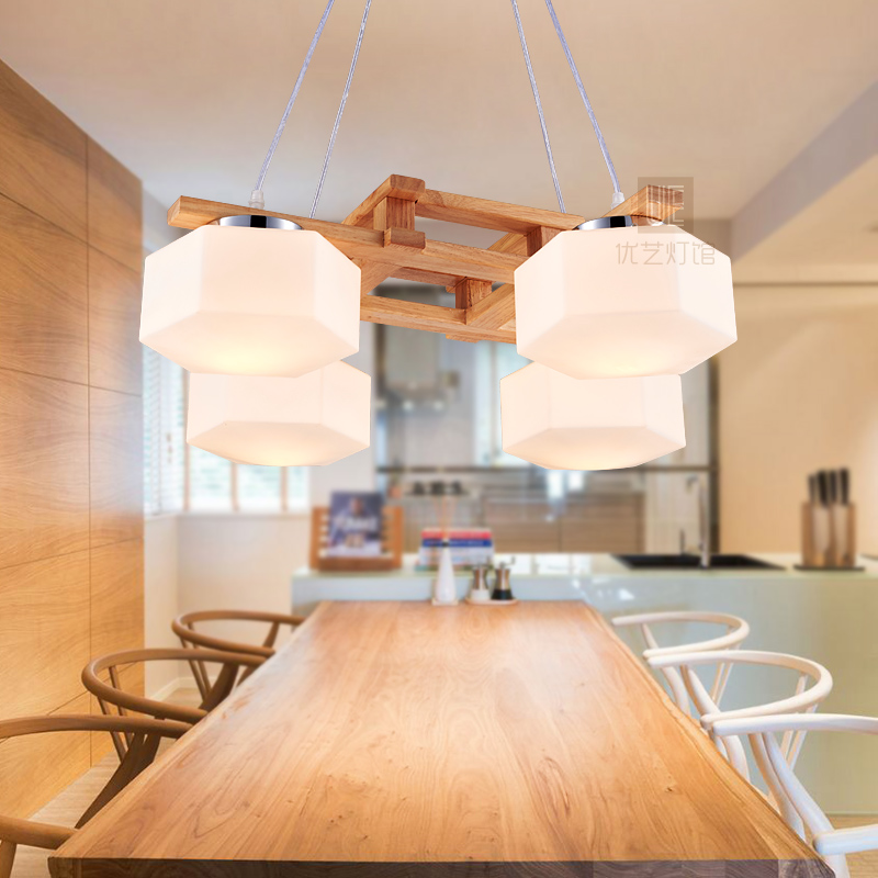 Simple living room dining room bedroom wooden Japanese wooden pendant light decorated Korean creative log out lamps ya72827 european style living pendant lamps room bedroom dining room entrance hall marble lamp full copper pendant light zh