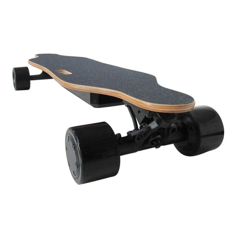 2019 Amovible skateboard électrique Électronique mini Longboard télécommande trottinette électrique 350 W * 2 Hub-Moteur