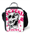 Fashion 3D Skull printing Insulated lunch bag for women thermal lunch bag kids lunch box adult picnic bag bolsa termica