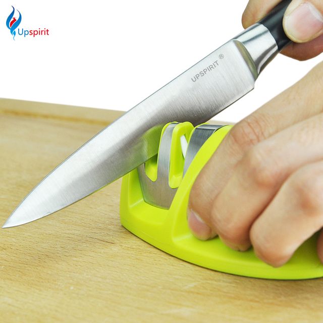 New Portable Kitchen Knife Sharpener Two Stages Diamond/Ceramic Sharpener Household Stainless Steel Sharpening Tools For Knives