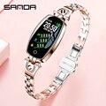 Модные женские Смарт-часы для женщин водонепроницаемые кровяное давление монитор сердечного ритма Bluetooth фитнес-браслет умные часы для Android