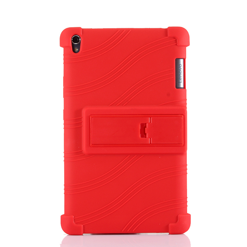 For Lenovo Tab3 8 Plus Drop Resistance Soft Silicone with Stand Back Case for Lenovo P8 TB-8703f TB-8703n Tablet Case+Stylus Pen colorful style tab3 8 plus p8 soft silicon cases stand cover for lenovo tab 3 8 plus tb 8703 tb 8703f tb 8703n with stand holder