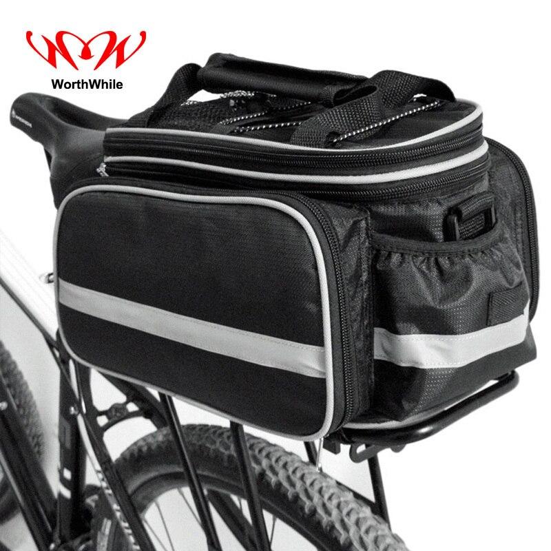 Lohnende Fahrrad Sitz Tasche Hinten Rucksack Stamm für Lauf Radfahren Pannier Paket Große Kapazität Fahrrad Zubehör MTB Zyklus