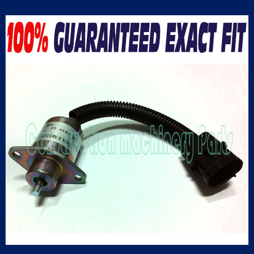 Fast free shipping, Engine Fuel Shutdown Stop Solenoid Valve UB704 2848A275 1457906 fuel shutdown solenoid valve shut off stop f1hz 9n392 a for cummins vw ford 12v