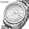COMTEX Quartz Watch Men Big Dial Stainless Steel Bracelet With Big Dial Fashion Brand Watch Relogio