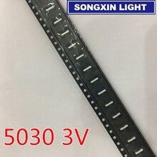 1000 メンテナンスのため液晶テレビのledバックライトsmd led 3v 5030 150MA冷白色光源