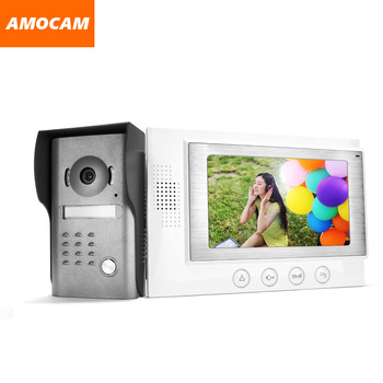 "7""  LCD Monitor Wired Video  Intercom Door Phone Doorbell Door Viewer IR Night Vision Home Security Kits for Villa Home"