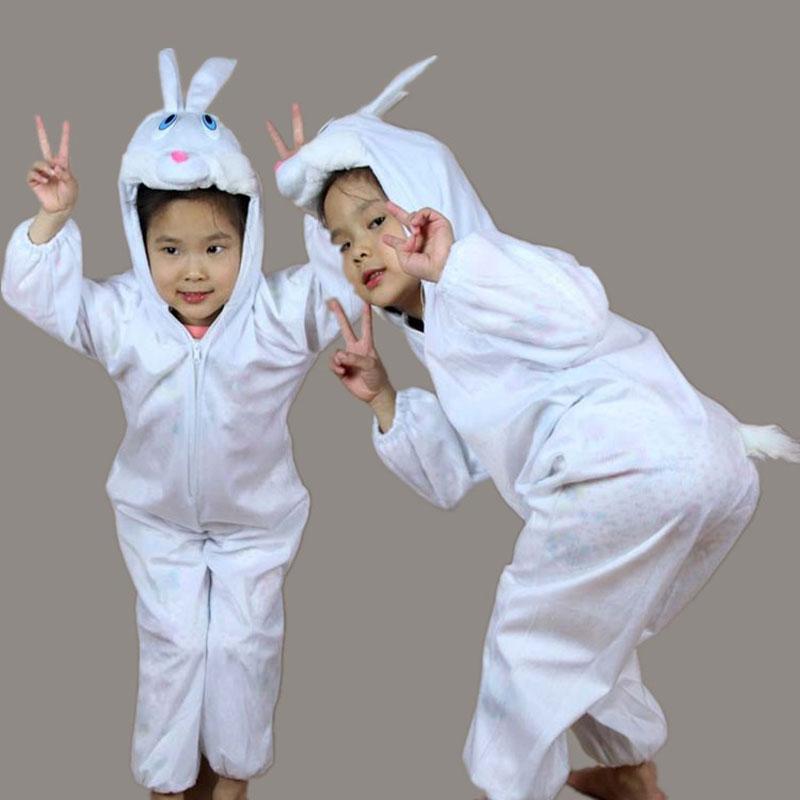 Umorden Niños Niños Chica Chico Animal Conejo Blanco Traje de Cosplay Mono Disfraces de Halloween para Niños Niñas