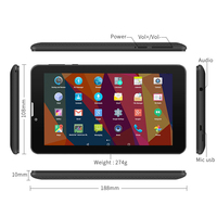 Yuntab Black 7 Inch Android 5 1 E706 Tablet PC Touch Screen 1024 600 Dual Camera