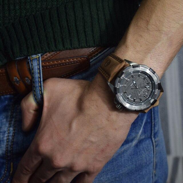 Original Men's Quartz Multi-Function Calendar Water Resistant Watch 4