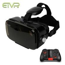 2017 ETVR Погружения в Виртуальную Реальность 3D Очки Google Картон VR Коробка Гарнитура 120 Градусов УГОЛ ОБЗОРА + Bluetooth Gamepad Контроллер
