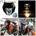 Supermoto черные фары дорожная фара для мотокросса двойная спортивная для Honda Yamaha Suzuki DRZ