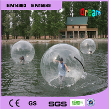 Water walking ball 2m diameter 0.8mm PVC inflatable ball children and adult's toy playing on the water