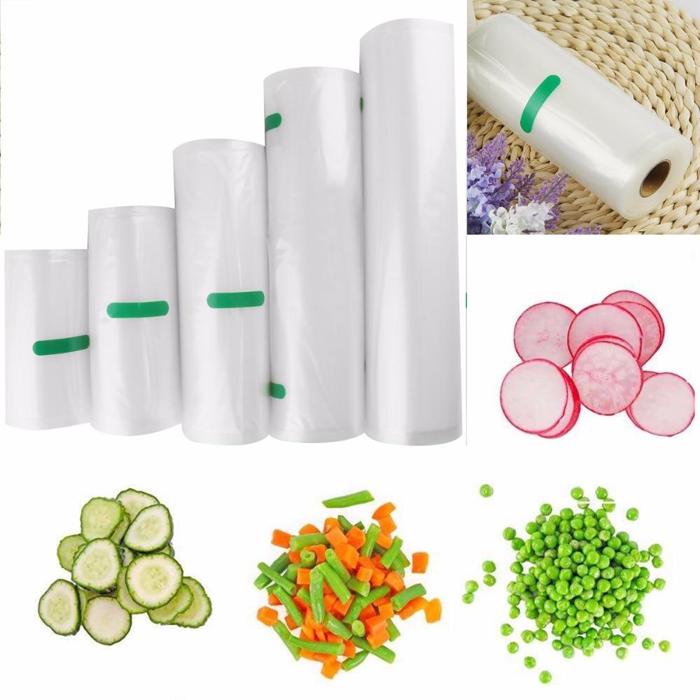 Nosii 12x500 15x500 20x500cm Sealer Vacuum Food Bag Roll Storage Bag Fresh-Keeping Safety Saver Packing Kitchen Fruit Veg Tool