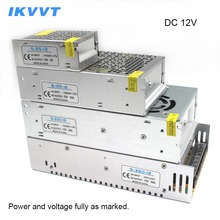 лучшая цена IKVVT Power Supply LED Driver LED Transformer DC 12v 2A 3A 5A 6.5A 8.5A 10A Switching AC 110V/220V to DC12v for Led Strip Lights