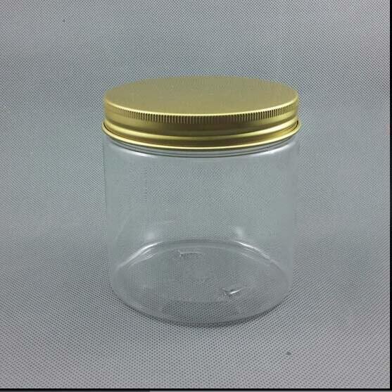 500 جرام شفافة Pet زجاجة كريم والحاويات التجميل جرة كريم