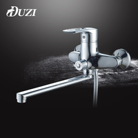 DUZI Bathroom Faucets 350mm Long Water Outlet Tube Move 90 Degrees Left And Right Bathroom Mixer