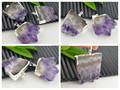 Finding - 8pcs Silver Plated Druzy Drusy quartz  Amethyst Agate Stone Charms Pendant