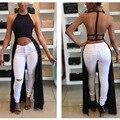 Crop Halter Solid High Low Backless Women Sexy Shirt Dress Back Long Front Short Shirt Side Long Dress