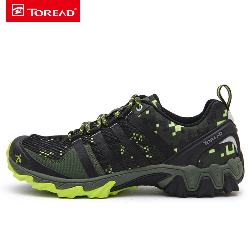 ФОТО Toread Hiking Shoes Walking Men Sport Shoes Breathable Popular Tactical boots New Arrival KFAE81354