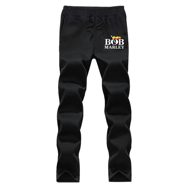 XIULUO Bob Marley 2016 New Brand Fashion Sweatpants Trousers Men fleece  Casual Pants Mens Clothes Tracksuit  gray and Black