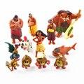 12 Pçs/set Moana Waialiki Maui Heihei Aventura Figuras de Ação Da Princesa PVC Coleção Toy Dolls Presente Das Crianças QJ339