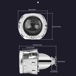Image 3 - Lentille de projecteur au xénon HID, 2.5 pouces, avec masque argenté, yeux dange, Led H7 et H4, phares par prise H1, ampoule HID, LHD, RHD, décoration de voiture
