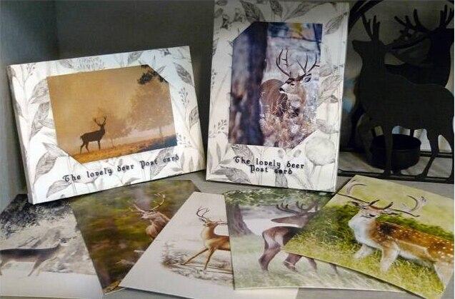 1packs/lot Students' DIY Cards Vintage Love Deer Post Card Set  32 Sheets Cards Per Set  Greeting Card