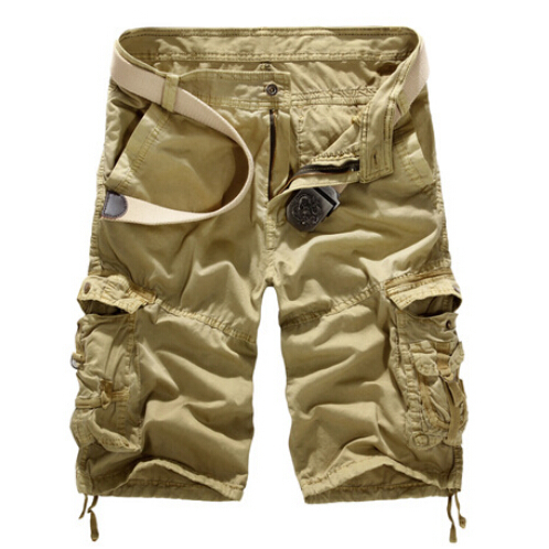 2017 New Fashion Men Cargo Short Pants Casual Multi Pocket Shorts Camouflage Military Cargo Shorts 8 Colors DKS003